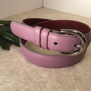 Coach purple lavender belt silver hardware M